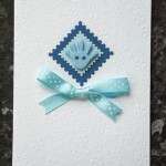 A6 Embossed Baby Handprint card £1.75