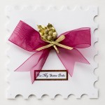 Personalised Christmas Bow card