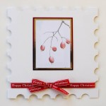 Winter Berries painting print card