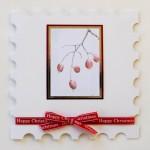 Winter Berries painting print card