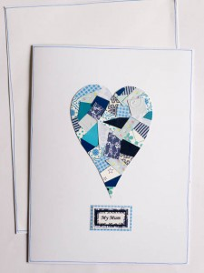 Large Collage heart card