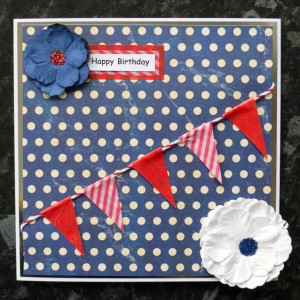 Red , white and blue birthday bunting