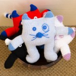 Knitted Cat Display