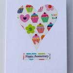 White Little Cake Anniversary Heart