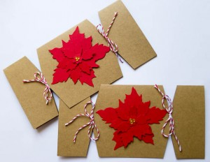 Poinsettia Cracker Cards
