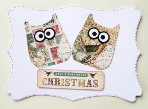 Pair of Christmas Owls