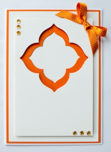 Orange Frame Card