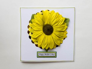 Recycled Sunflower Mother's Day Card