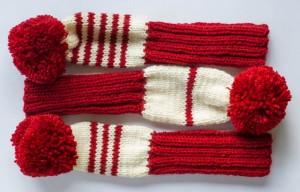Red/Cream Golf Club Covers