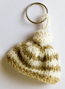 Recycled Cotton Stripy keyring