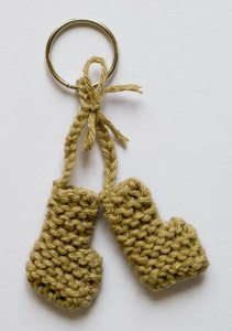 Recycled Cotton Boots Keyring