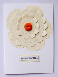 Parchment Flower Congratulations Card