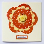 Orange / Yellow Get Well Flower Card