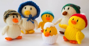 Knitted Duck Family