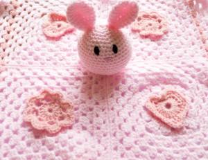 Pink Bunny blankie