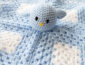 Blue Bird blankie