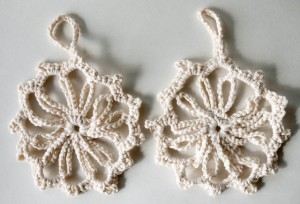 Cotton Crochet Snowflakes