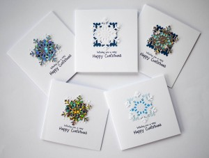Mixed snowflake cards