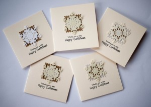 Mixed vintage snowflake cards