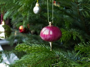 Wooden Christmas tree bauble