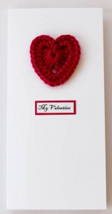 My Valentine Dark Red Crochet Heart