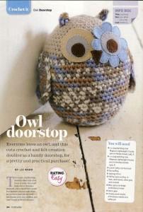 owl doorstop craftseller mag